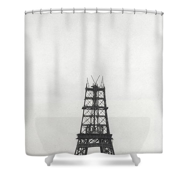Eiffel Tower, Paris During Construction Shower Curtain