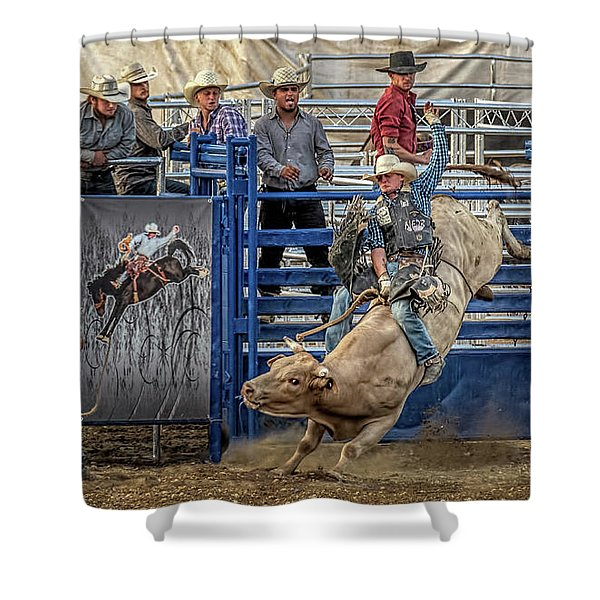 Eight Seconds To Glory Shower Curtain