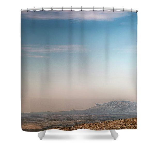 Guadalupe Mountains From A Distance Shower Curtain