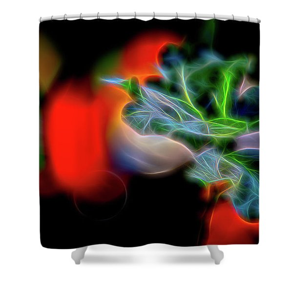 Electric Leaves Shower Curtain
