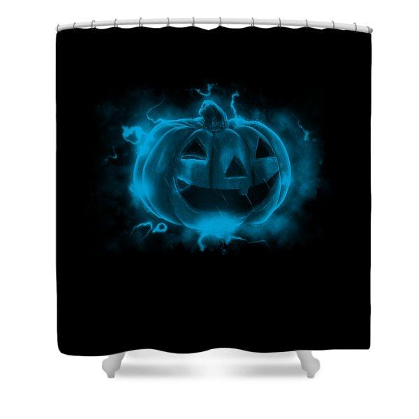 Electric Pumpkin Shower Curtain