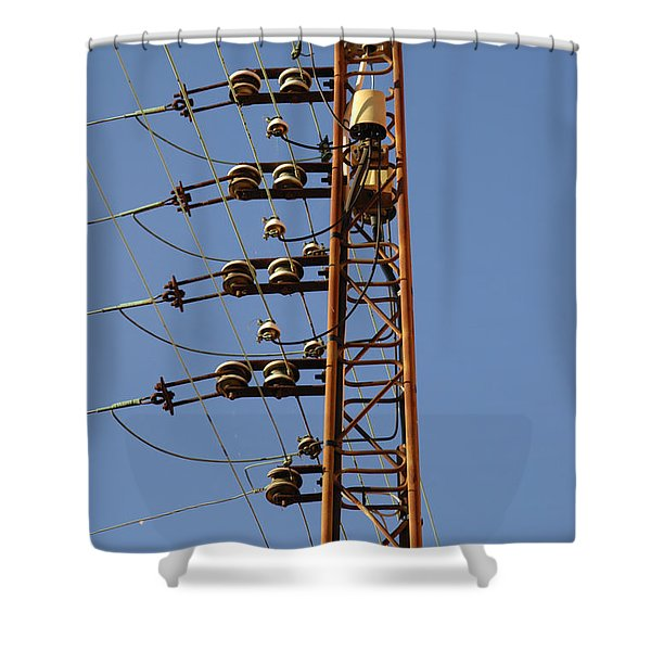 Electric Wires Pole Shower Curtain