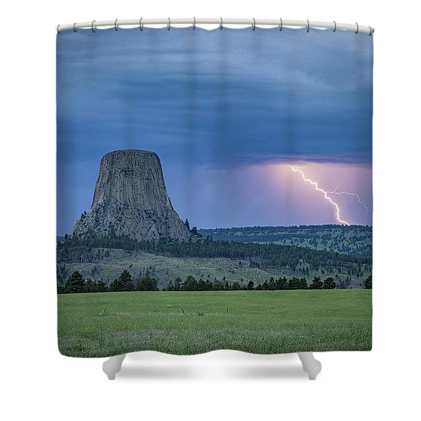 Electrifying Night Shower Curtain