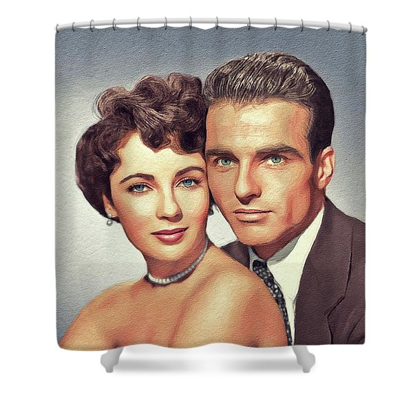 Elizabeth Taylor And Montgomery Clift, Hollywood Legends Shower Curtain