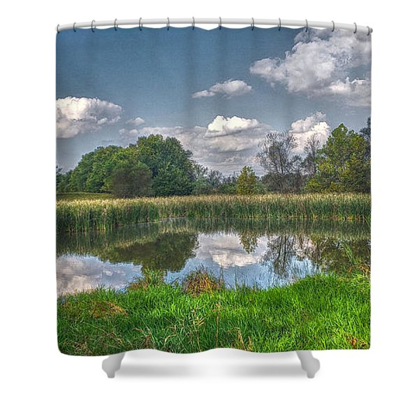 Ellis Pond Shower Curtain