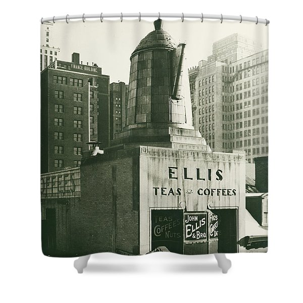Ellis Tea And Coffee Store, 1945 Shower Curtain