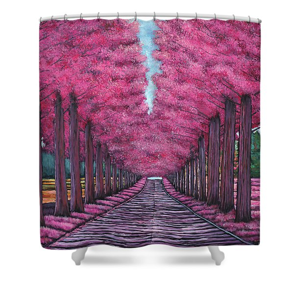 Emerald Avenue Shower Curtain