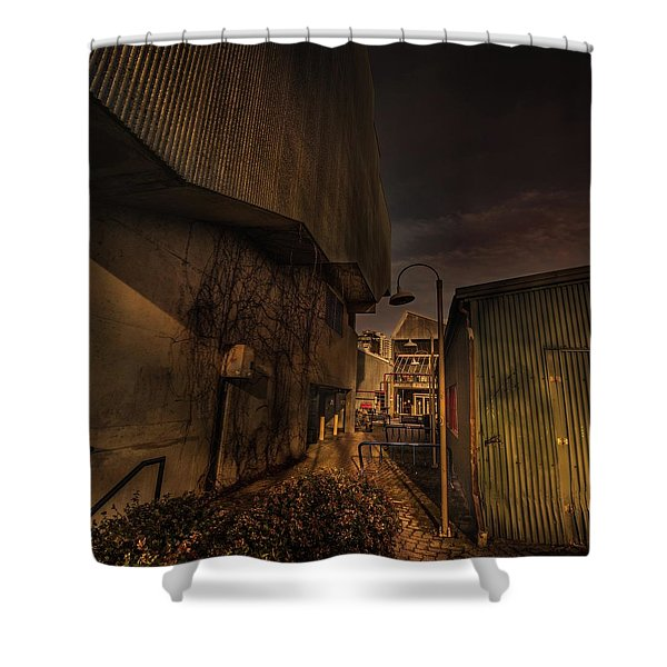 Shower Curtain featuring the photograph Emily Carr Alley by Juan Contreras