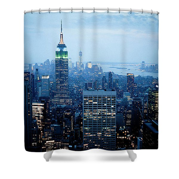 Empire In Blue Shower Curtain