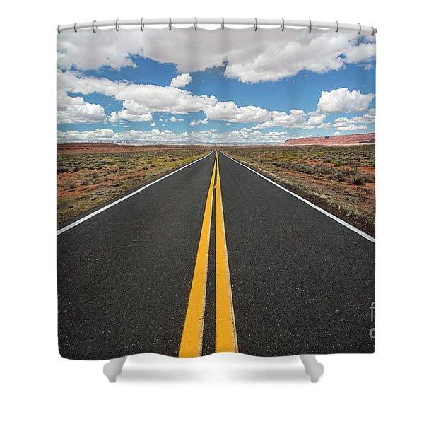 Empty Highway Shower Curtain