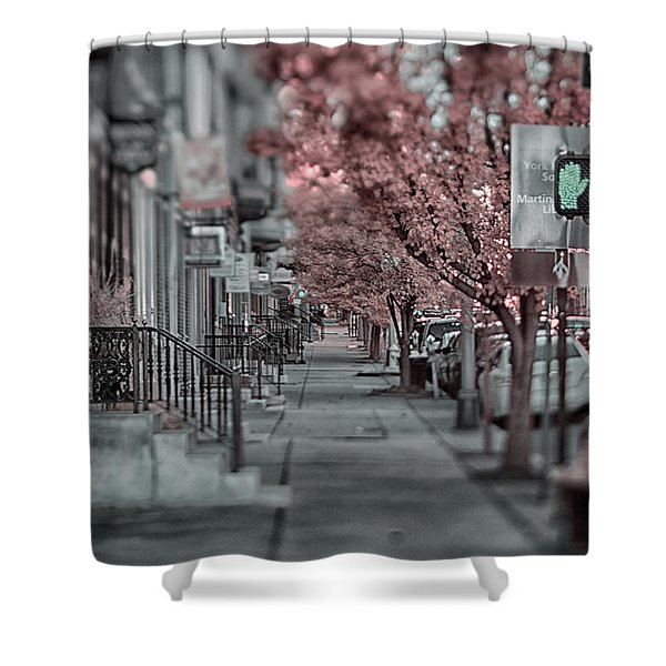 Empty Sidewalk Shower Curtain
