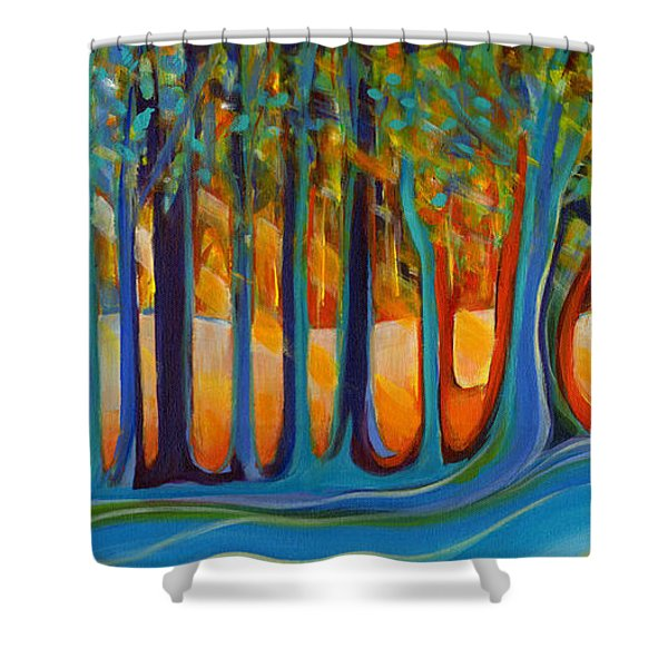 Enchanted Forest Fairy Tales Shower Curtain