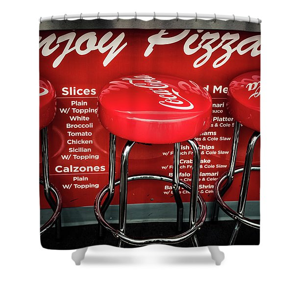 Enjoy Pizza And A Coke Shower Curtain