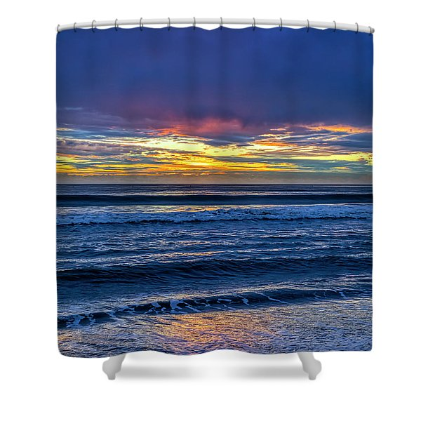 Entering The Blue Hour Shower Curtain