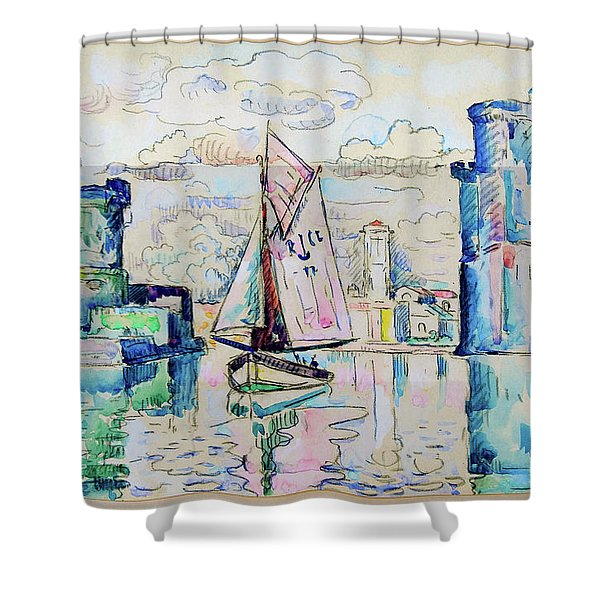 Entrance To The Harbor Of La Rochelle - Digital Remastered Edition Shower Curtain