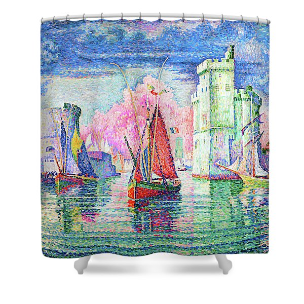Entrance To The Port Of La Rochelle - Digital Remastered Edition Shower Curtain