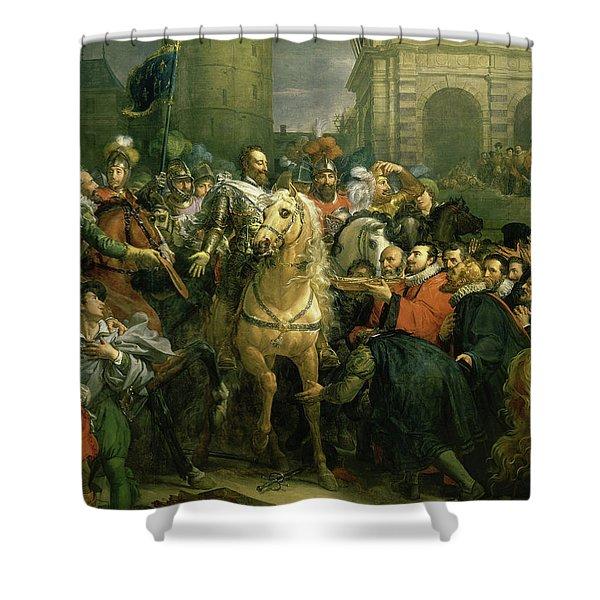 Entree D'henri Iv A Paris, 1594 Shower Curtain
