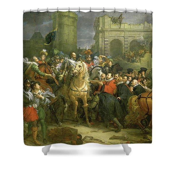 Entree D'henri Iv Dans La Ville De Paris, 1594 Shower Curtain