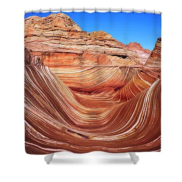 Eroded Cliffs, Vermillion Cliffs Shower Curtain