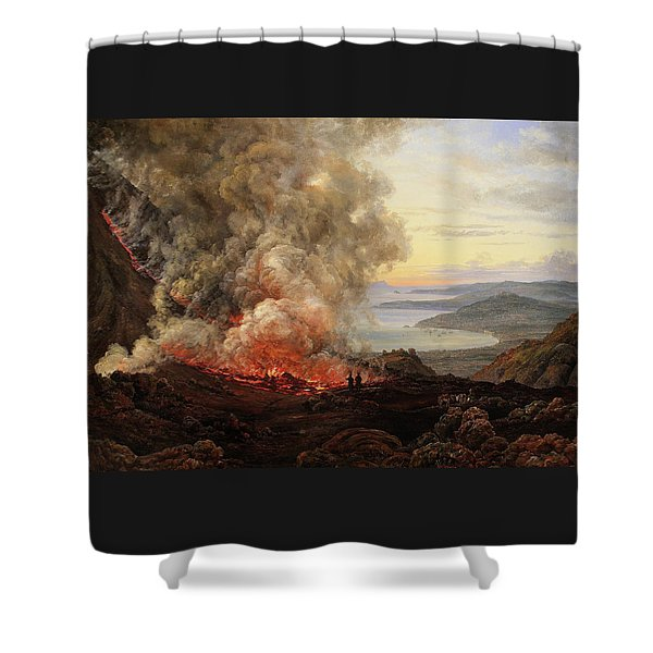 Eruption Of The Volcano Vesuvius - Digital Remastered Edition Shower Curtain