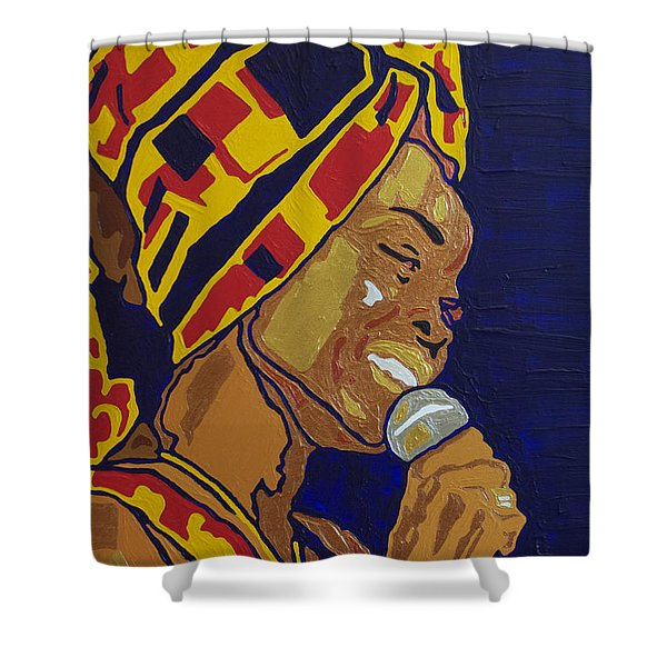 Erykah Badu Shower Curtain