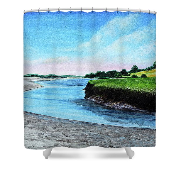 Essex River South Ipswich Shower Curtain