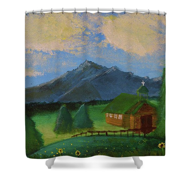Esterbrook Chapel, Wyoming Shower Curtain