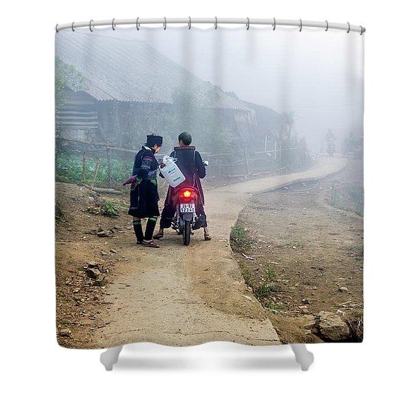 Ethnic Minority On The Road In Sapa, Vietnam Shower Curtain