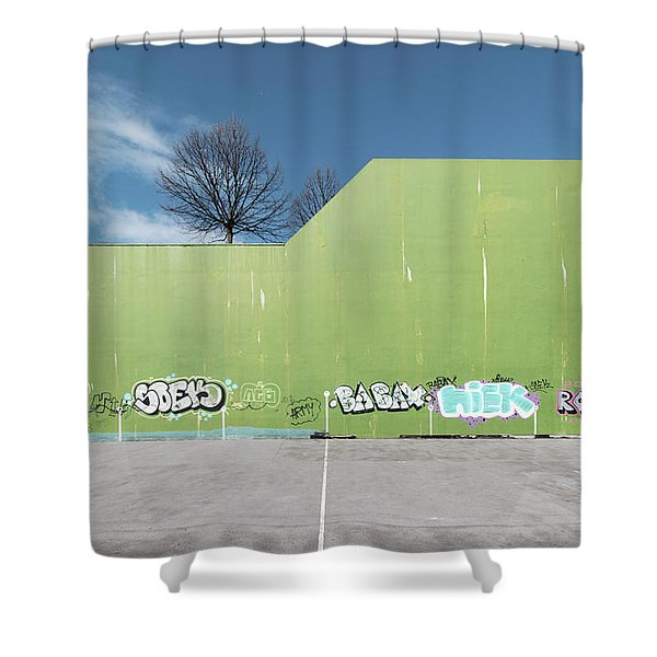 Euro New Topographics 26 Shower Curtain