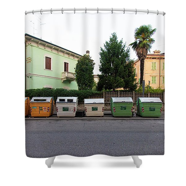 European New Topographics 4 Shower Curtain