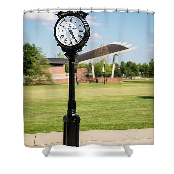 Evans Towne Center Park Clock - Columbia County Ga Shower Curtain