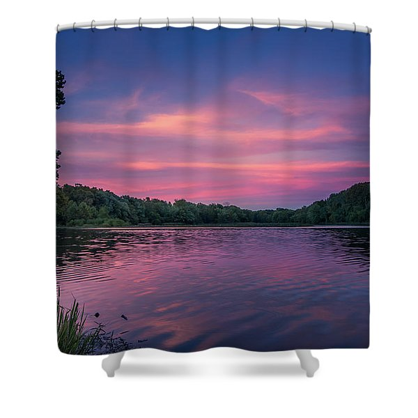 Evening At Springfield Lake Shower Curtain
