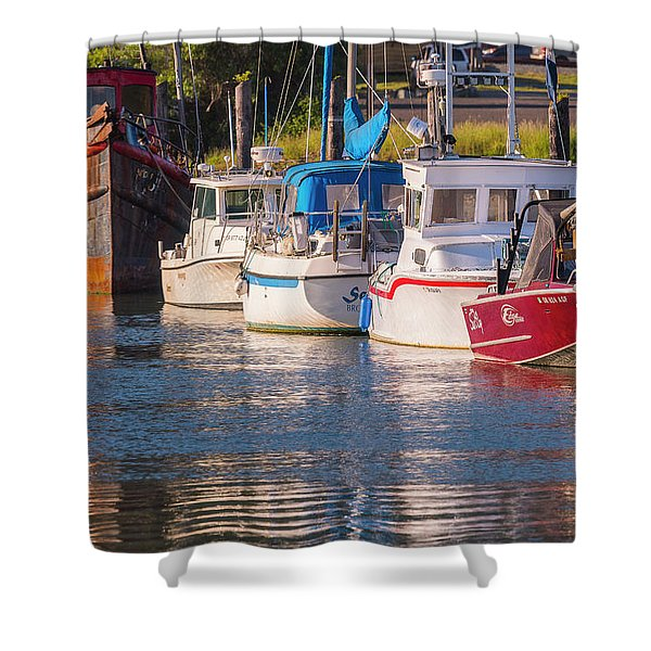 Evening At The Harbor Shower Curtain
