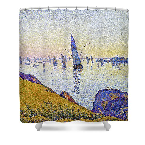 Evening Calm, Concarneau - Digital Remastered Edition Shower Curtain