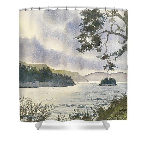 Evening On Derwentwater Shower Curtain