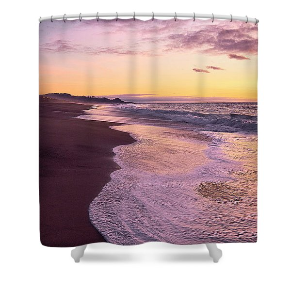 Shower Curtain featuring the photograph Evening On Gleneden Beach by Whitney Goodey