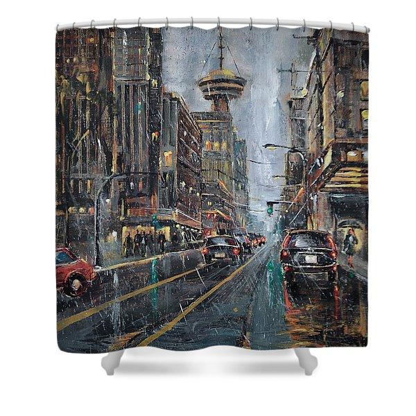 Evening Traffic II Shower Curtain