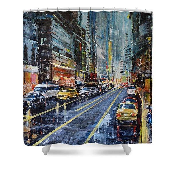 Evening Traffic Shower Curtain