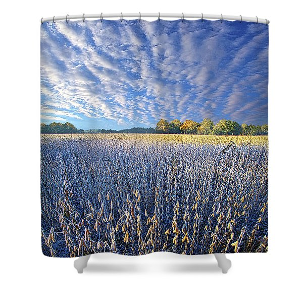 Every Moment Spent Shower Curtain