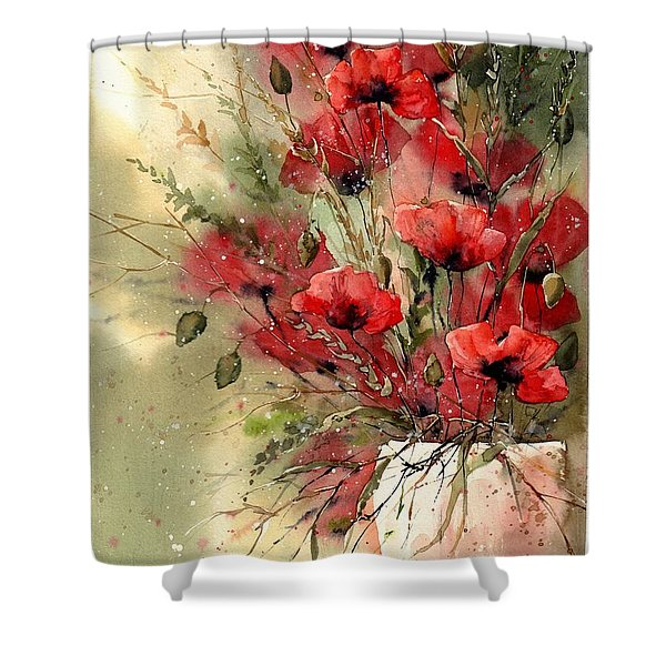 Everything About Poppies I Shower Curtain