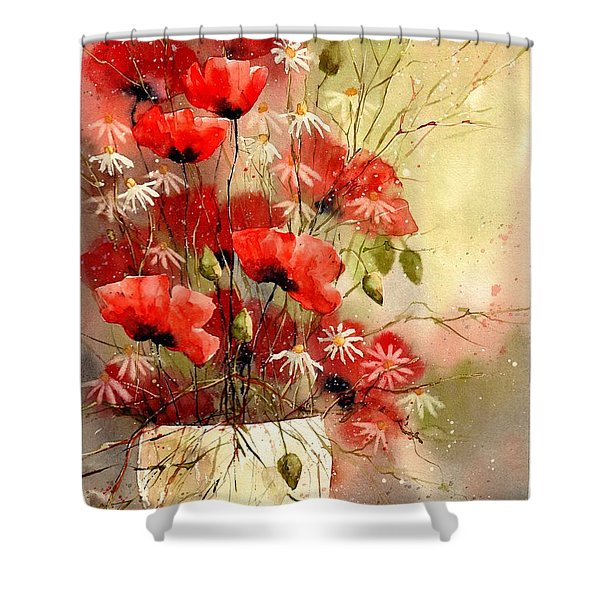 Everything About Poppies IIi Shower Curtain