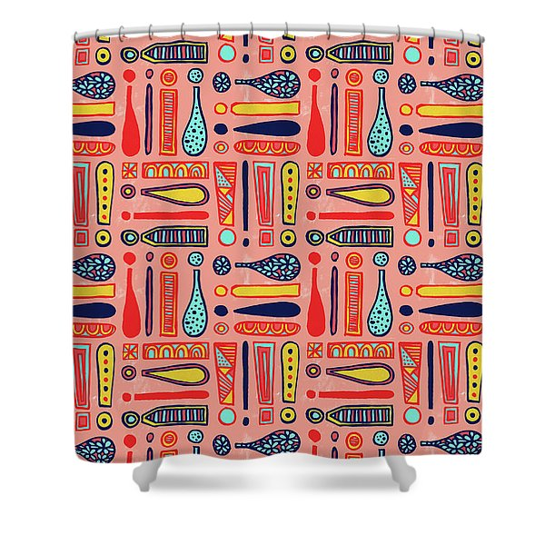 Exclamations Pattern Shower Curtain