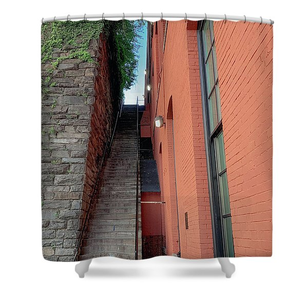 Exorcist Stairs Beauty Shower Curtain