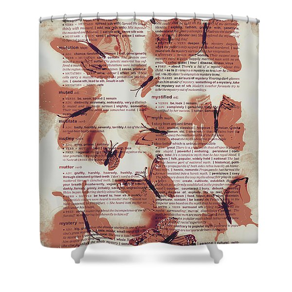 Exotic Scripts Shower Curtain