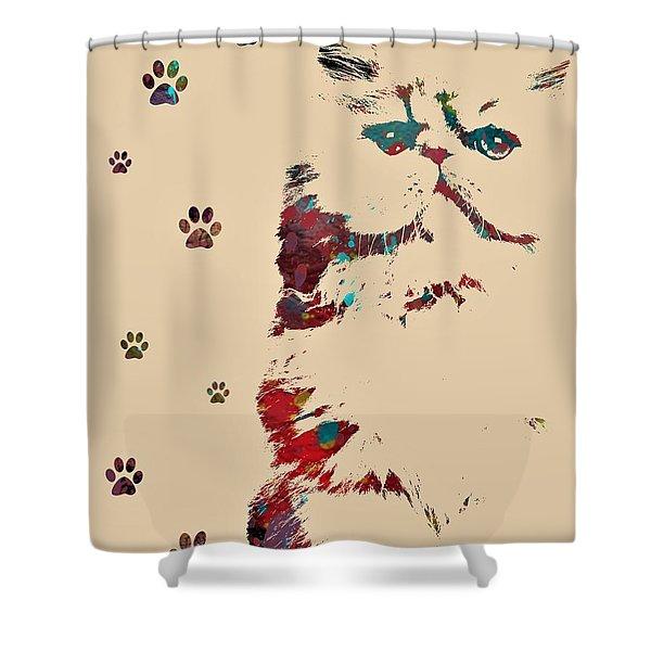 Exotic Short Hair Shower Curtain