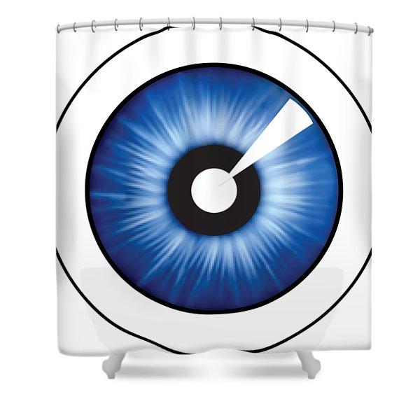 Eyeball Clear Shower Curtain