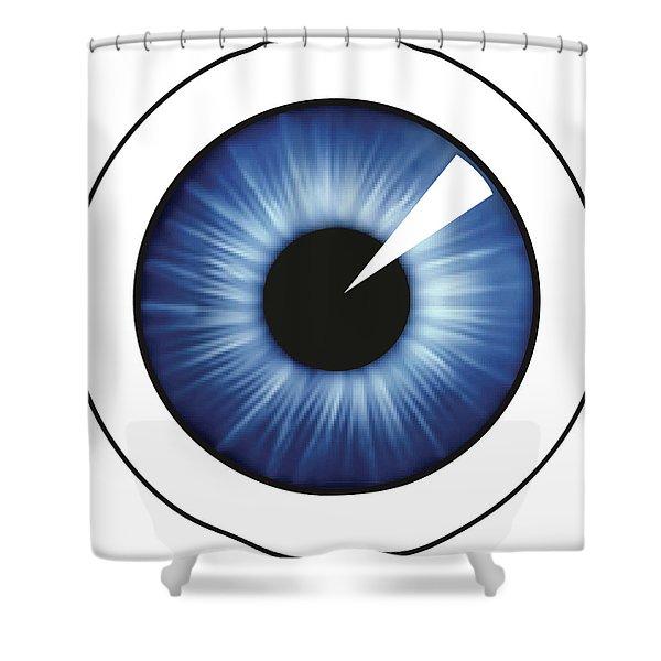 Eyeball White Shower Curtain