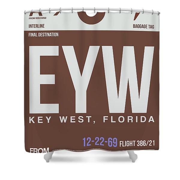 Eyw Key West Luggage Tag II Shower Curtain