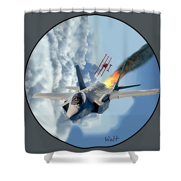 F-35 Vs The Red Baron Shower Curtain
