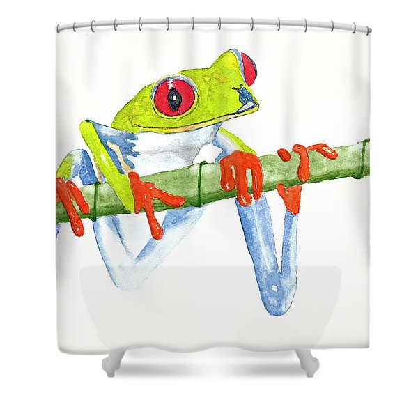 Fabio T Frog Shower Curtain